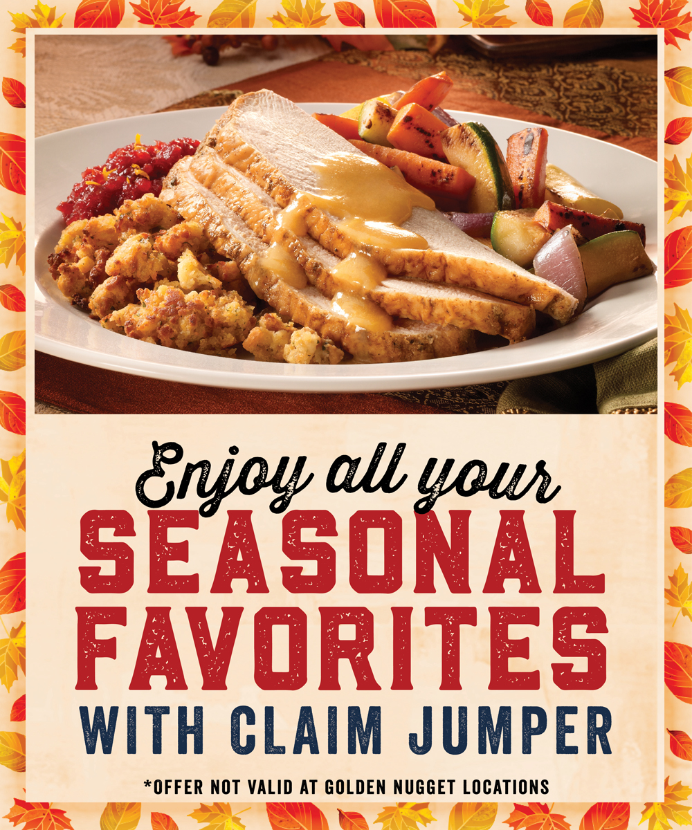 Enjoy your Seasonal Favorites at Claim Jumper