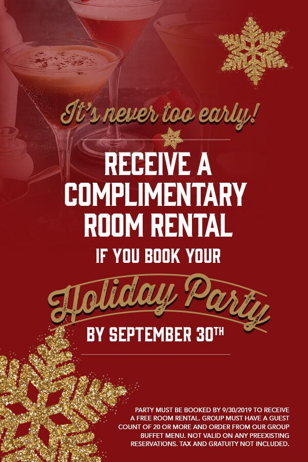 Book your holiday party at Claim Jumper